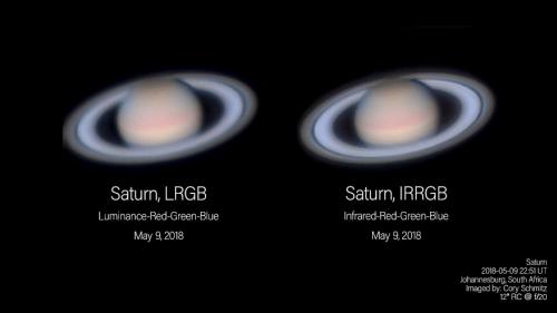 Comparing L-RGB versus IR-RGB at Saturn