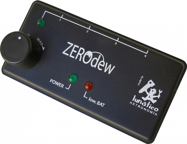 ZeroDew is the Lunático Astronomía humidity control system. Safe, versatile and durable.