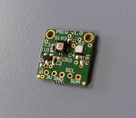 Relative humidity and atmospheric pressure sensor for Lunatico's Cloudwatcher